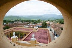 Trinidad - Cuba. Trinidad Village Rooftops in Cuba Stock Photo