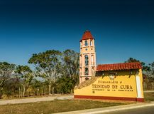 Trinidad Cuba Welcome Sign stock images