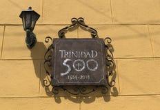 Trinidad, Cuba. 500 years anniversary of the UNESCO World Heritage site city of Trinidad, Cuba Royalty Free Stock Photography