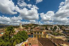 Trinidad de Cuba. Aerial view of Trinidad skyline including the Convent of Saint Assisi which is currently used as the Museum of the Fight Against Bandits Stock Photos