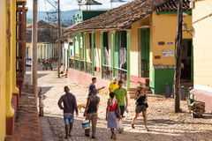 Trinidad de Cuba Everyday Scenes of the Colonial Village Royalty Free Stock Photos