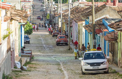Trinidad de Cuba Everyday Scenes of the Colonial Village Royalty Free Stock Photo