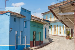 Trinidad de Cuba: Old Vintage Colonial House, Architecture and Details Stock Images