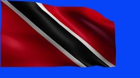 Trinidad en Tobago, Vlag van Trinidad en Tobago - LIJN stock video
