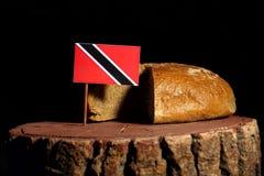 Trinidad i Tobago zaznaczamy na fiszorku z chlebem Zdjęcie Royalty Free