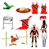 Trinidad Icons 2. Vector Illustration of 9 different Trinidad and Tobago Trini icons