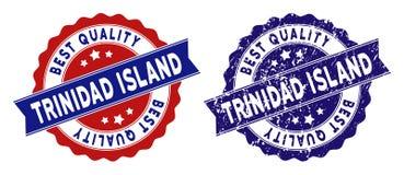 Trinidad Island Best Quality Stamp con superficie Grungy Immagini Stock Libere da Diritti