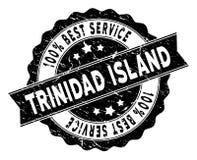 Trinidad Island Best Service Stamp con struttura della polvere Fotografia Stock Libera da Diritti