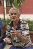 TRINIDAD KUBA, Styczeń, - 03, 2018: portret starszy kubańczyk Obraz Stock