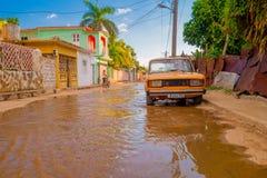 TRINIDAD KUBA, WRZESIEŃ, - 8, 2015: Zalewający Zdjęcie Royalty Free