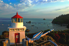 Trinidad Lighthouse in California Royalty Free Stock Photos