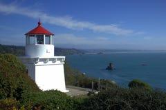 Trinidad Lighthouse und Hafen Stockbild