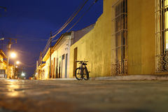 Trinidad at night. A night road  in Trinidad traditional village at Cuba Royalty Free Stock Photos