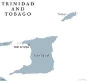 Trinidad och Tobago politisk översikt stock illustrationer