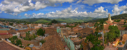 Trinidad panorama. Panoramic view of trinidad town and sierra del escambray, cuba Royalty Free Stock Photography