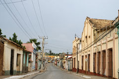Trinidad road. A road  in Trinidad traditional village at Cuba Royalty Free Stock Photography