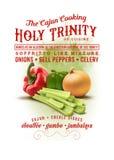 Trinidad santa de la colección de la cultura de New Orleans de cocinar de Cajun ilustración del vector