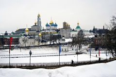 Trinidad Sergius Lavra en Rusia Foto de archivo libre de regalías