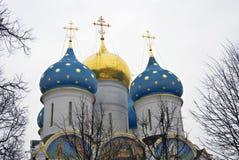 Trinidad Sergius Lavra en Rusia Iglesia de Dormition Imagenes de archivo