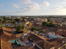 Trinidad skyline. Skyline of cuban Trinidad in the afternoon, roofing tiles Royalty Free Stock Photo
