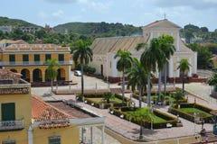 Trinidad Square. View of the historic Plaza Mayor in Trinidad, Cuba Stock Image