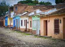 Trinidad Street y casas, Cuba Fotografía de archivo libre de regalías