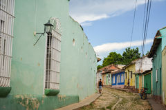 Trinidad streets. General view of a common street of Trinidad, Cuba royalty free stock photo