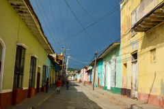 Trinidad streets. General view of a common street of Trinidad, Cuba royalty free stock image