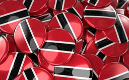 Trinidad and Tobago Badges Background Stock Image