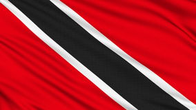 Trinidad and Tobago Flag. Trinidad and Tobago Flag, with real structure of a fabric stock video