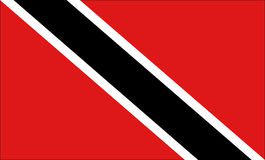 Trinidad and Tobago flag. Illustration of the flag of Trinidad and Tobago Royalty Free Stock Photo