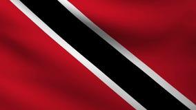 Trinidad Tobago flag. Animation of Trinidad Tobago flag at wind stock video