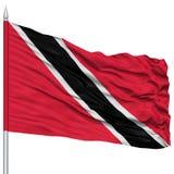 Trinidad and Tobago Flag on Flagpole Stock Photography