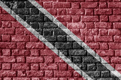 Trinidad and Tobago Flag Painted on brick wall nice Royalty Free Stock Photo