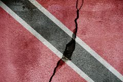 Trinidad and Tobago   FLAG PAINTED ON CRACKED WALL NICE Royalty Free Stock Image
