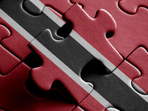 Trinidad and Tobago FLAG PAINTED ON PUZZLE nice Royalty Free Stock Image