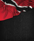 Trinidad and Tobago Flag Vintage on a Grunge Black Chalkboard Royalty Free Stock Photography