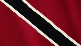 Trinidad and Tobago flag waving animation. Full Screen. Symbol of the country. 4K stock footage