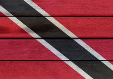 Trinidad and Tobago flag on a wood Royalty Free Stock Photography