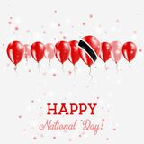 Trinidad and Tobago Independence Day Sparkling. Trinidad and Tobago Independence Day Sparkling Patriotic Poster. Happy Independence Day Card with Trinidad and Royalty Free Stock Image