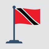 Trinidad and Tobago Isolated  Royalty Free Stock Photo