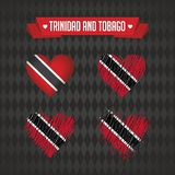 Trinidad and Tobago heart with flag inside. Grunge vector graphic symbols vector illustration