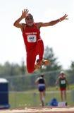 Trinidad Tobago Masters Long Jump Man Stock Image
