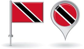 Trinidad and Tobago pin icon, map pointer flag Stock Photography