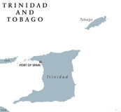 Trinidad and Tobago political map Royalty Free Stock Photos