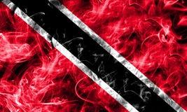 Trinidad and Tobago smoke flag. On a black background Stock Photos