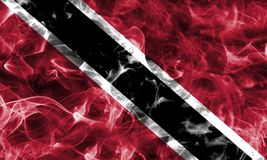 Trinidad and Tobago smoke flag. Isolated on a black background Royalty Free Stock Photography
