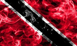 Trinidad and Tobago smoke flag. Isolated on a black background Stock Photography