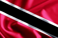 Trinidad and tobago flag illustration stock illustration