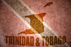 Trinidad and tobago vintage  map Royalty Free Stock Photography